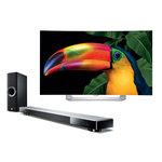 """Téléviseur incurvé OLED 3D Full HD 55"""" (140 cm) 16/9 - 1920 x 1080 pixels - TNT, Câble et Satellite HD - HDTV 1080p - Wi-Fi - Bluetooth - DLNA + Barre de son 7.1 avec caisson de basses sans fil, HDMI 2.0 transmission 4K et Bluetooth"""