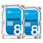 """Pack spécial NAS de 2 Disques durs 3.5"""" 8 To 7200 RPM 128 Mo Serial ATA 6 Gb/s pour NAS"""