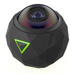 Caméra sportive 4K étanche à 360° Monolentille compatible iOS et Android