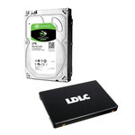 "Kit upgrade disque dur 3.5"" 3 To 7200 RPM 64 Mo + SSD 240 Go TLC 2.5"" 7mm Serial ATA 6Gb/s"