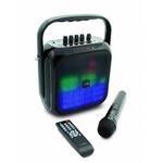 Haut-parleur Bluetooth portatif avec batterie intégrée, Radio FM et LED multicolores