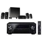 Ampli-tuner Home Cinéma 5.1 Bluetooth, HDCP 2.2, et Upscaling Ultra HD 4K avec 4 entrées HDMI + Ensemble 5.1