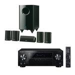 Ampli-tuner Home Cinéma 5.1 Bluetooth, HDCP 2.2, et Upscaling Ultra HD 4K avec 4 entrées HDMI + Pack d'enceintes 5.1
