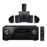 Ampli-tuner Home Cinéma 5.1 Bluetooth, Wi-FI, Airplay, Google Cast, DLNA, HDCP 2.2, TuneIn, Spotify, Tidal, Deezer et Upscaling Ultra HD 4K avec 6 entrées HDMI + Pack d'enceintes 5.1