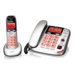 Téléphone filaire + téléphone DECT sans fil amplifié - Touches et écran XL