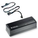 Amplificateur ultra-compact 4 canaux - 4 x 55 Wrms + Câble d'adaptation Y au format ISO (1m)