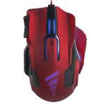 Souris filaire pour gamer pro - Droitier - Capteur laser 12 000 dpi - 10 boutons programmables - Rétro-éclairage 7 couleurs