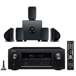 Ampli-tuner Home Cinema 3D Ready 7.2 AirPlay avec 8 entrées HDMI 4K Ultra HD, HDCP 2.2, Wi-Fi, Bluetooth, Dolby Atmos et DTS:X + Pack d'enceintes 5.1