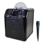 Sono mobile sans fil Bluetooth avec USB, micro karaoké et boule disco