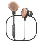 Écouteurs intra-auriculaires sans fil Bluetooth avec double microphone, télécommande et conception waterproof
