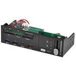 """Lecteur de cartes mémoires + port USB 3.0 + régulateur de ventilateur dans baie 5""""1/4"""