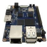 Carte mère avec processeur ARM Cortex A7 Quad-Core 1.8Ghz - RAM 2 Go - GPU ARM Mali400 - RJ45 - HDMI - 2x USB 2.0 - Wi-Fi N / Bluetooth 4.0