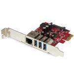 Carte contrôleur PCI-E (3 ports USB 3.0 Type A et 1 port Gigabit Ethernet)